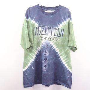 Liquid Blue Mens XL Led Zeppelin Tie Dye T Shirt